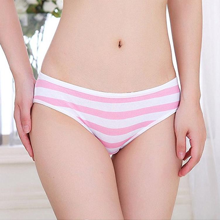 Hot-Cute-Japanese-Style-Blue-pink-Stripe-Panties