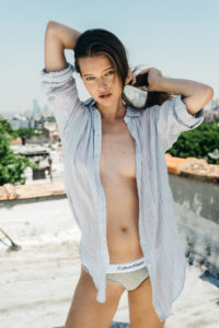 Calvin Klein nude on the beach men's shirt
